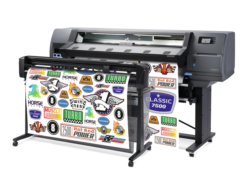 HP Latex 115 Print & Cut Solution front view